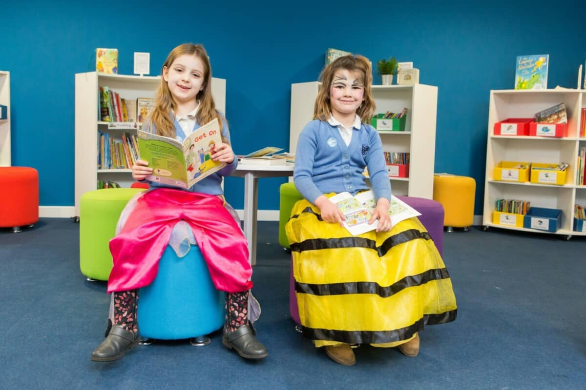 school fundraisers dressed in their wrong trousers