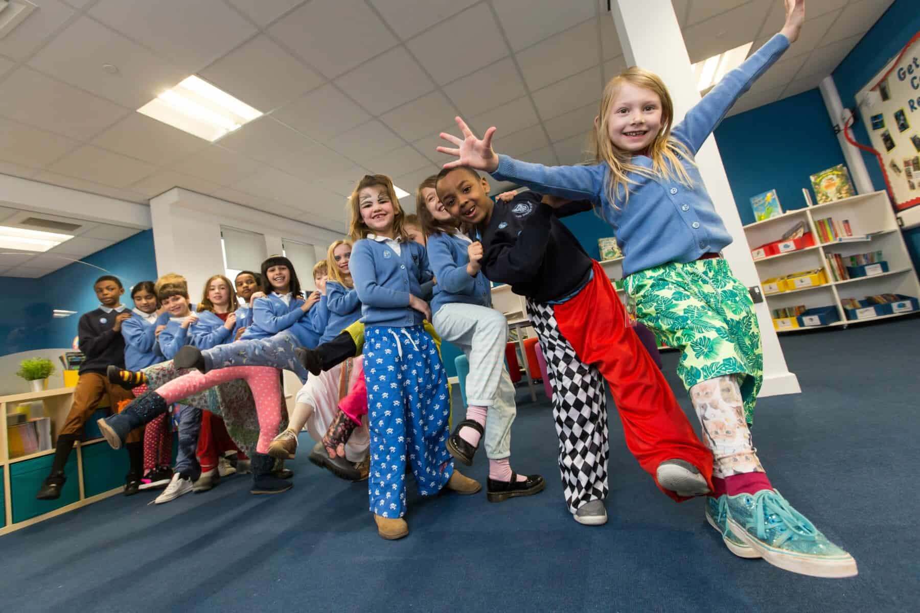 children dressed in their wrong trousers