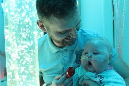 baby in sensory play room
