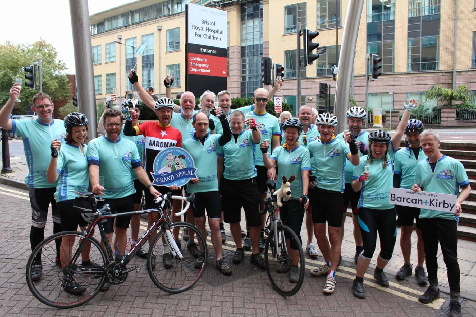 corporate company on cycling fundraiser