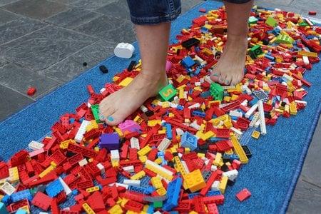 person walking on lego