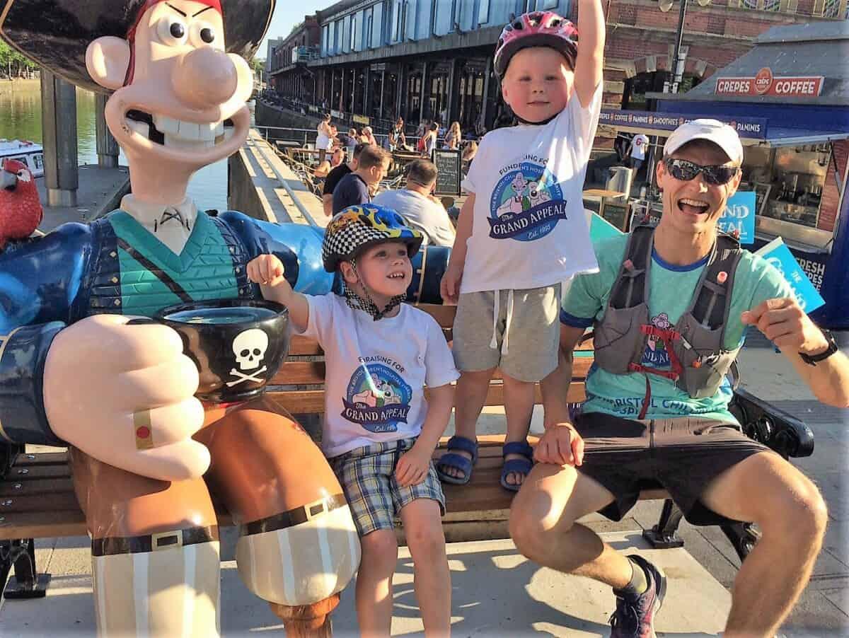 family near long john wallace sculpture