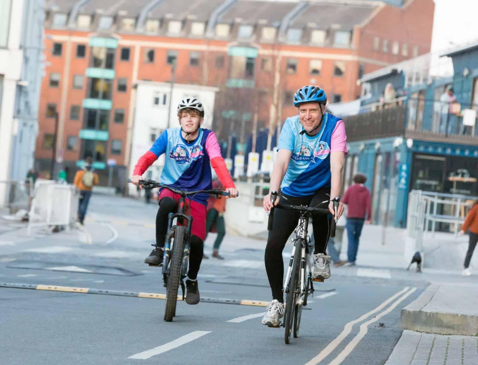 men cycling